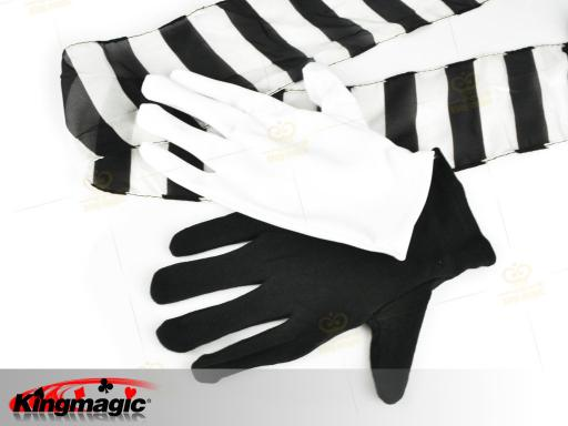 Black And White Gloves To Streamer